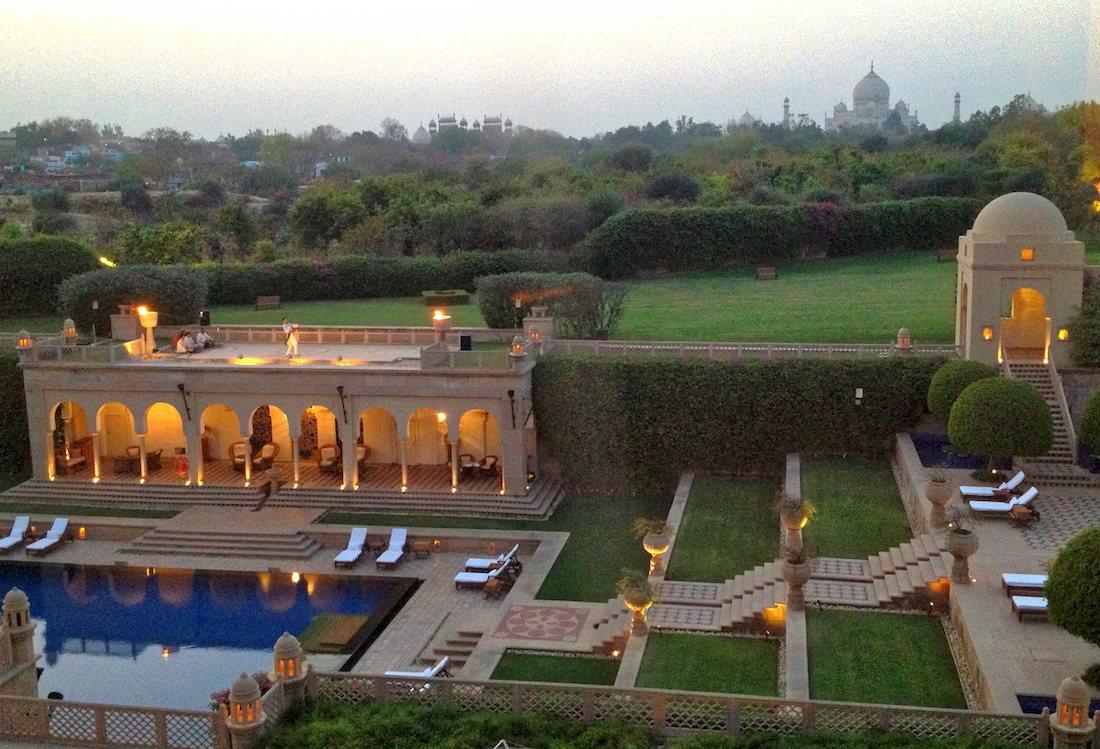 Taj Mahal View at Dusk